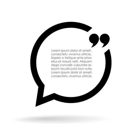 Illustration pour Quote text bubble illustration - image libre de droit