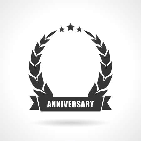Illustration for Blank anniversary icon, add your number - Royalty Free Image