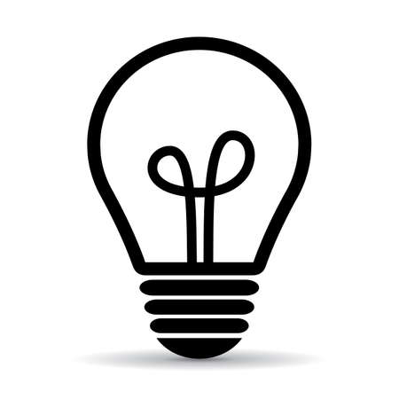 Illustration pour Light bulb vector icon - image libre de droit