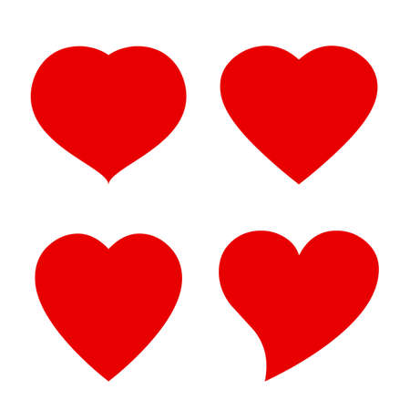 Illustration for Vector heart shape icon - Royalty Free Image