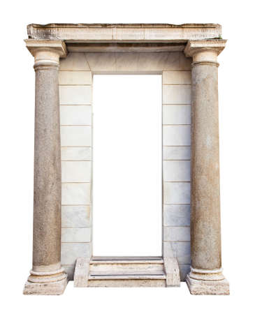 Photo for Ancient roman entrance with columns - Royalty Free Image