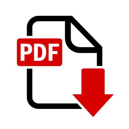 Illustration pour Download pdf file button - image libre de droit