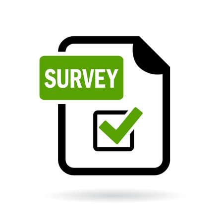 Illustration pour Survey icon - image libre de droit