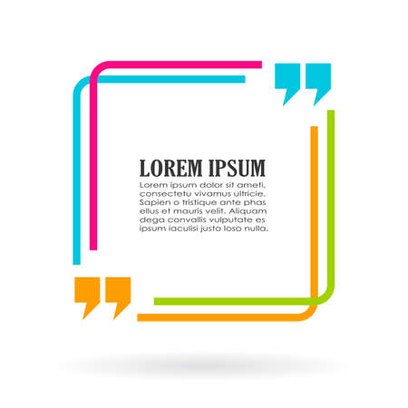 Illustration pour Quote text fun frame - image libre de droit