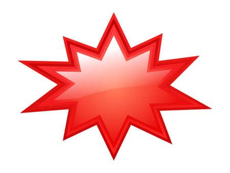 Ilustración de Red bursting star - Imagen libre de derechos