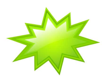 Illustration pour Green bursting star - image libre de droit