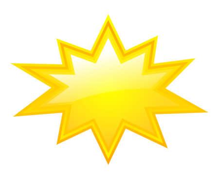 Ilustración de Yellow bursting star - Imagen libre de derechos