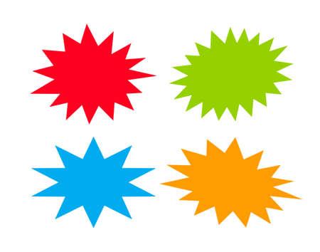 Ilustración de Bursting speech stars - Imagen libre de derechos