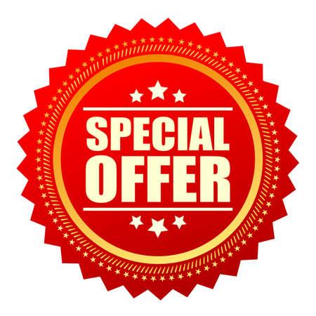 Illustration pour Special offer red star icon - image libre de droit