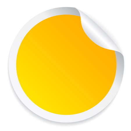 Illustration pour Round yellow sticker - image libre de droit