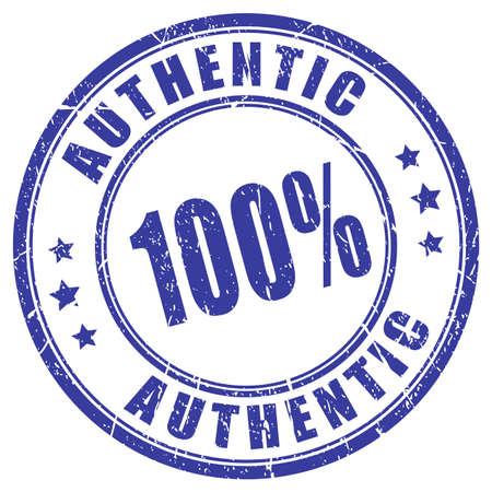 Ilustración de 100 authentic rubber stamp - Imagen libre de derechos