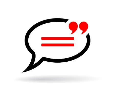 Ilustración de Chat speech bubble - Imagen libre de derechos