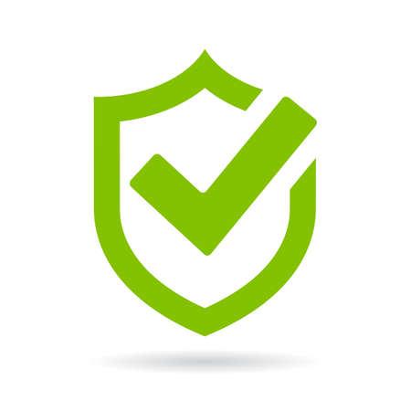 Illustration pour Tick shield security icon - image libre de droit