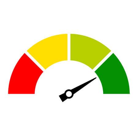 Illustration pour Speed meter icon - image libre de droit