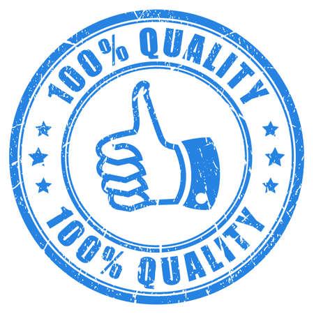 Illustration pour 100 quality rubber stamp - image libre de droit