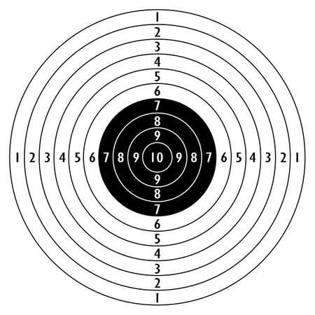 Illustration pour Shooting target icon - image libre de droit