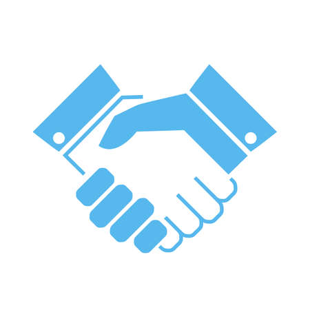 Illustration for Handshake vector icon - Royalty Free Image