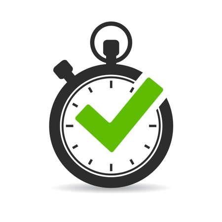 Illustration pour Stopwatch vector icon - image libre de droit