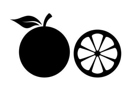 Illustration pour Orange silhouette vector icon - image libre de droit