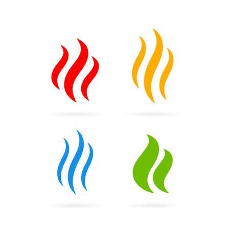 Ilustración de Aroma odor vector icon set - Imagen libre de derechos
