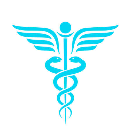 Illustration pour Medicine ancient vector emblem - image libre de droit