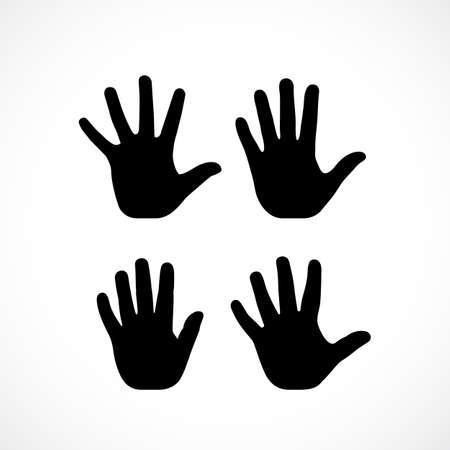 Ilustración de Human palm hand vector silhouette - Imagen libre de derechos