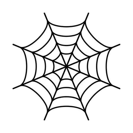 Ilustración de Spider web black silhouette icon - Imagen libre de derechos
