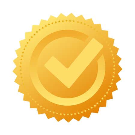 Illustration pour Gold notary approval seal - image libre de droit