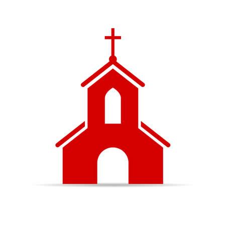 Illustration pour Red church vector sign - image libre de droit