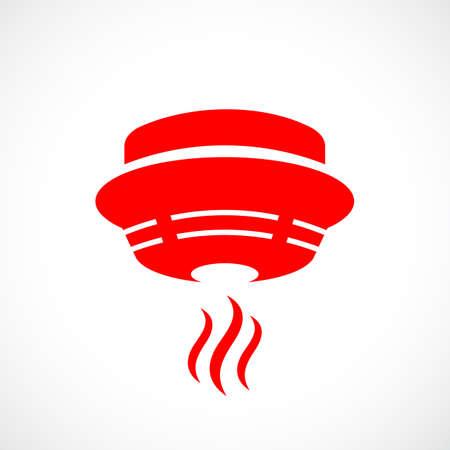Ilustración de Red fire detector icon - Imagen libre de derechos
