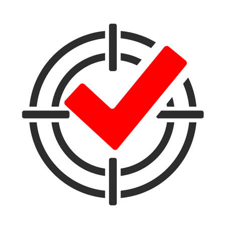 Illustration pour Focus abstract vector pictogram - image libre de droit