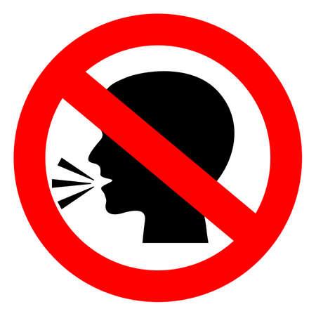 Illustration pour Stop talking vector sign - image libre de droit