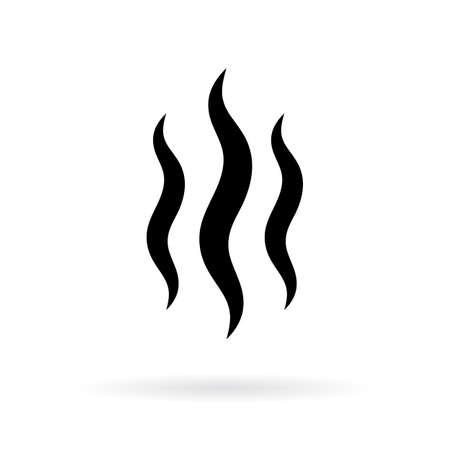 Ilustración de An Evaporating water silhouette vector icon - Imagen libre de derechos