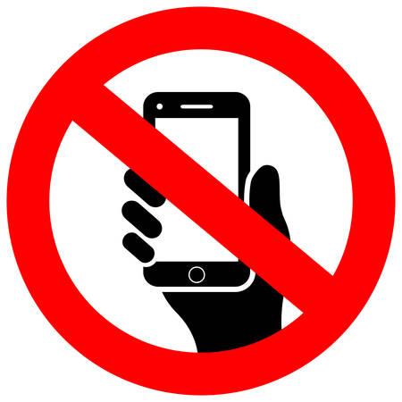 Illustration pour No cell phone vector icon - image libre de droit