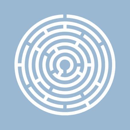 Illustration pour Round labyrinth vector icon - image libre de droit