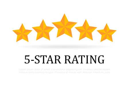 Ilustración de Five star rating vector icon - Imagen libre de derechos