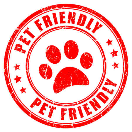 Pet friendly red stamp