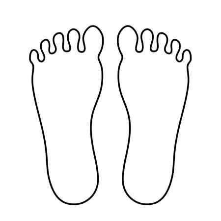 Ilustración de Human foot outline icon - Imagen libre de derechos