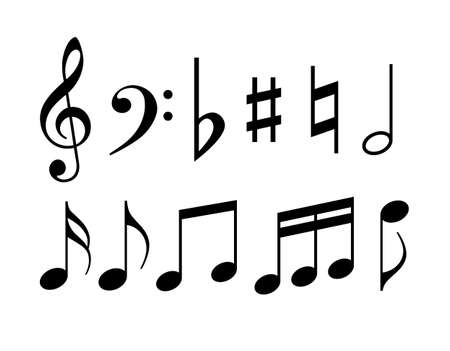 Illustration for Music note symbols - Royalty Free Image
