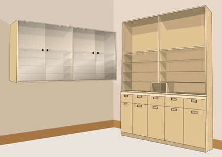 wooden cabinets for storage