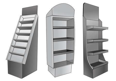 Illustration pour a place to store items to be sold  - image libre de droit