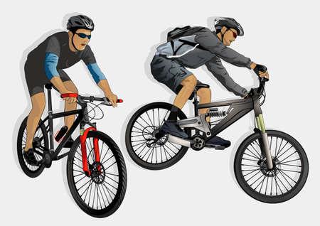 Illustration pour mountain bike racing  - image libre de droit
