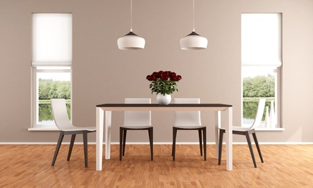Elegant beige dining room