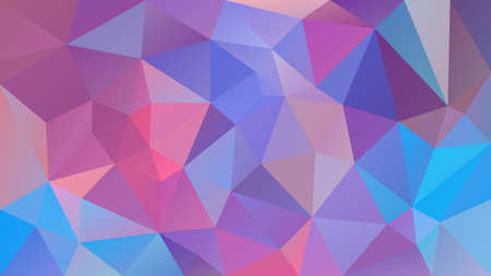 Illustration pour Vector abstract irregular polygonal background - triangle low poly pattern - cute baby pink, blue, purple and violet color - image libre de droit