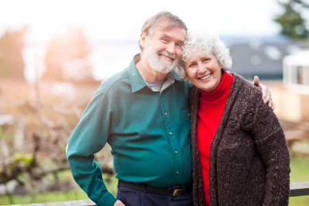 Photo for A portrait of a happy senior couple - Royalty Free Image