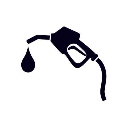 Illustration pour Gasoline pump nozzle sign.Gas station icon. Flat design style. - image libre de droit