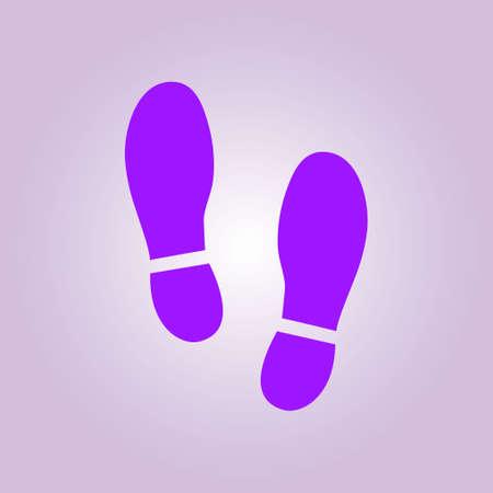 Ilustración de Imprint soles shoes icon. Flat design style. - Imagen libre de derechos