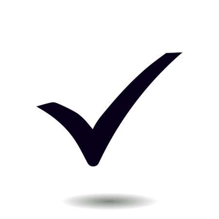 Illustration pour Check mark icon. Flat design style. Vector. - image libre de droit