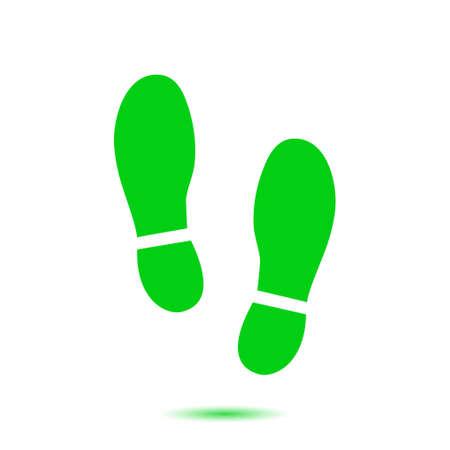 Ilustración de Black Imprint soles shoes icon. Flat design style. - Imagen libre de derechos