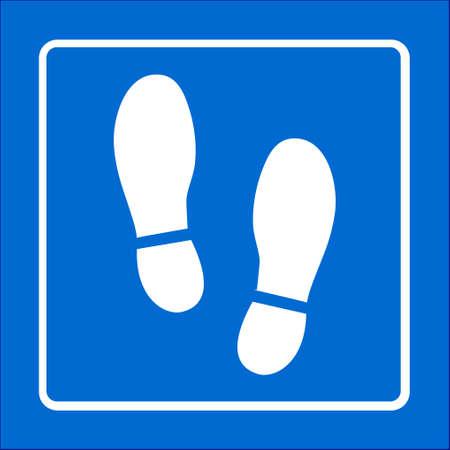Ilustración de Flat design style of slack imprint soles shoes icon - Imagen libre de derechos